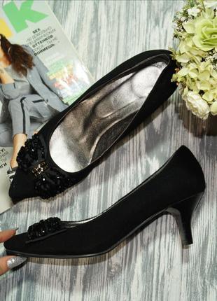 🌿39🌿замша. красивые нарядные туфли лодочки
