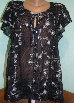 Блуза с вышивкой р.20