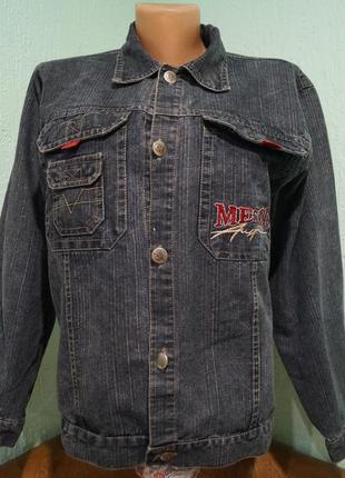 Джинсовая куртка на мальчика 12 лет