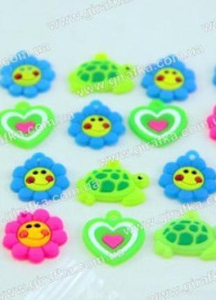 Брелочки-шармики для браслетов из резиночек-20 штук в наборе