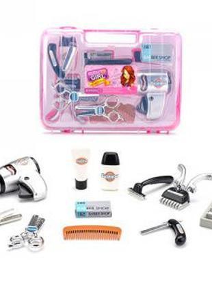 Набор парикмахера 80073A (24шт) фен,ножницы,расческа,триммер, ...