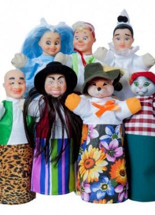 Кукольный театр Буратино (премиум упаковка, 7 персонажей, книжка)