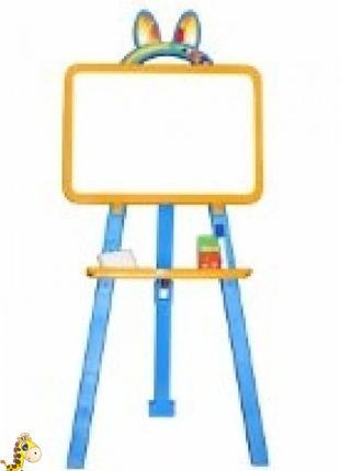 Мольберт для малювання магнітна (для мела и маркера), жовто-голу