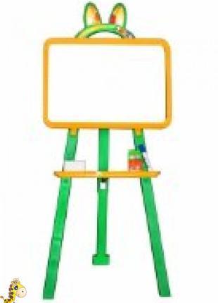 Мольберт для рисования, магн. (мел и маркер), желто-зел