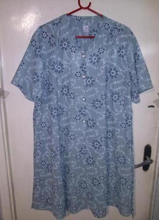 Женственное платье-цвета тиффани-мятное в цветочный принт,боль...