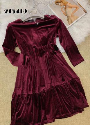 Платье велюр новое