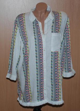 Блуза принтованая под вышивку бренда tu