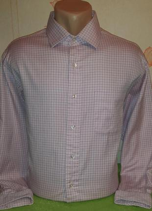Стильная розовая рубашка в клетку brooks brothers all cotton, ...
