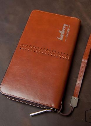Мужское портмоне, клатч baellerry leather ( коричневый )