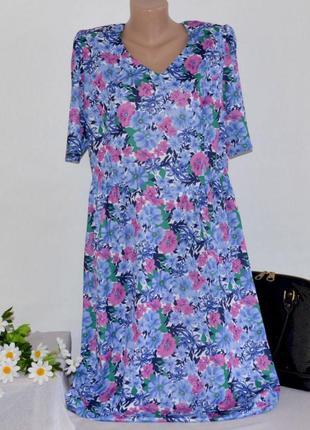 Брендовое макси платье deanes великобритания цветы большой размер