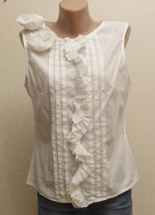 Блуза,белая блуза, котоновая блуза