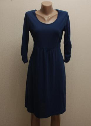 Платье синее. платье миди
