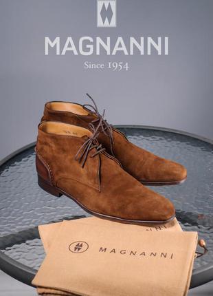 Ботинки премиум класса magnanni, испания мужские кожаные