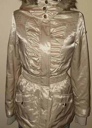 Стильна зимова куртка парка відомого бренду