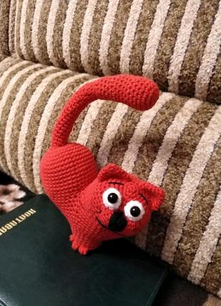 Сердце-кот, подарок , мягкая игрушка ручной работы