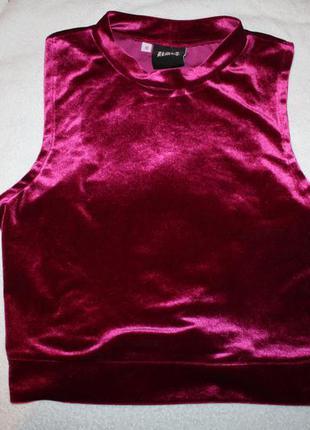 Майка топ футболка велюрова майка велюрова / бархатный топ