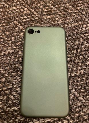 Силиконовый однотонный чехол для айфон / Iphone 7 , 8