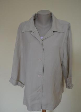 Красивая блузочка или легкий жакет лен 55 % большого размера ц...