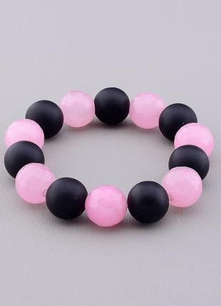 Браслет 'sunstones' шунгит,розовый кварц 19 см. 0768140