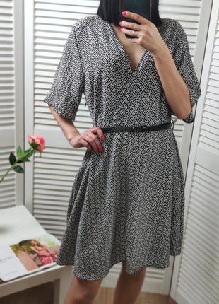 Платье в принт new look, p-p uk 16/l
