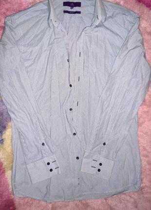 Приталенная рубашка next размер м