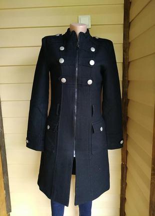 Пальто bershka,демисезонное,кашемир.