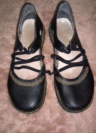 Кожаные туфли rieker размер 37