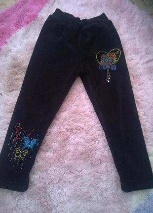 Утепленные штаны на девочку на рост 104