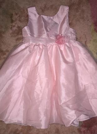 Нарядное платье h&m на 7-8 лет