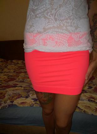 Яркая юбка adidas climalite размер м