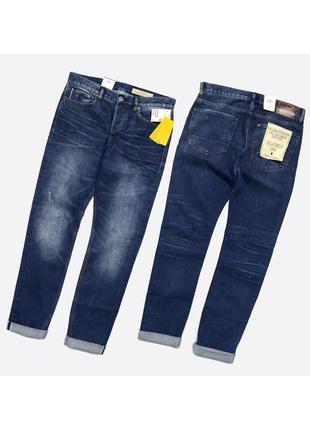 H&m selvedge 32 tapered / мужские новые плотные джинсы, деним