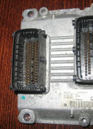 Блок управления двигателем ЭБУ Opel Astra H 55350959 0261207722