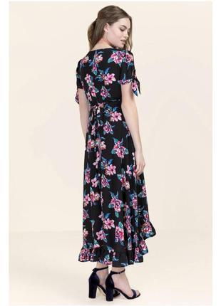 Длинное платье в цветы