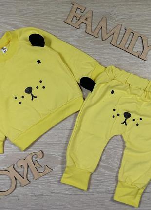 Яркий костюм для малышей мишка