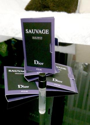 Sauvage Christian Dior _Original mini vial spray 2 мл книжка мини