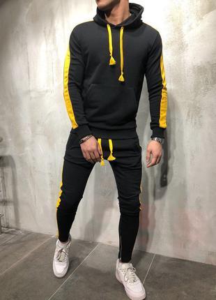 Тёплый мужской спортивный костюм в трёх цветах. Хит сезона 2020!