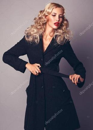 Стильное демисезонное пальто h&m