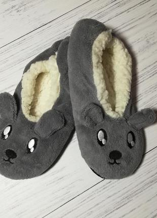 Плюшевые тапочки-мышки, балетки 35-38, 23 см esmara, германия,...