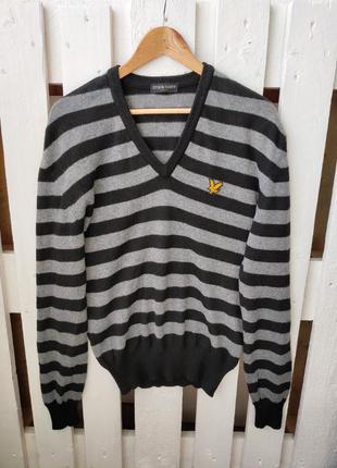 Теплый шерстяной свитер джемпер lyle&scott