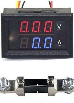Амперметр - вольтметр постоянного тока с шунтом 50 А DC 0-100V