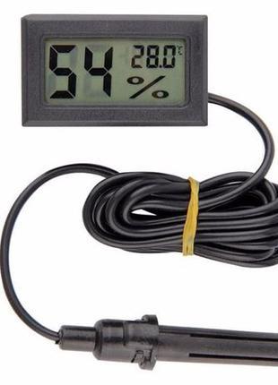 Цифровой гигрометр термометр влагометр c выносным датчиком + Б...