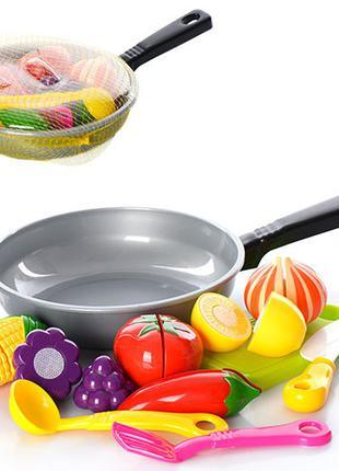 Игровой набор Продукты со сковородой 685 продукты на липучках