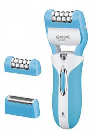 Епілятор Gemei GM-3051 2в1 Блакитний