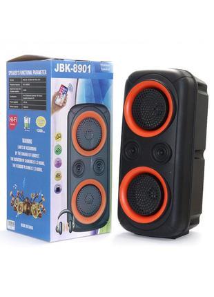 Портативная беспроводная Bluetooth колонка 10Вт JBK-8901 Чёрна...