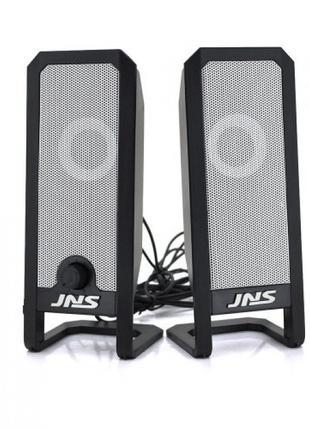 Компьютерные колонки акустика 2.0 JNS-12 от сети 220V Чёрные с...