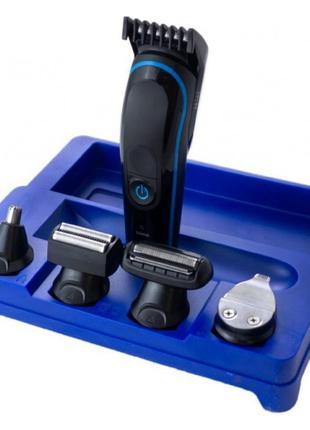 Бездротова машинка для стрижки, гоління, тример Gemei GM-563 5...
