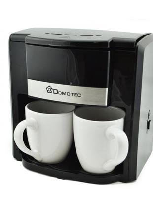 Крапельна кавоварка DOMOTEC MS-0708 на 2 чашки кави машина