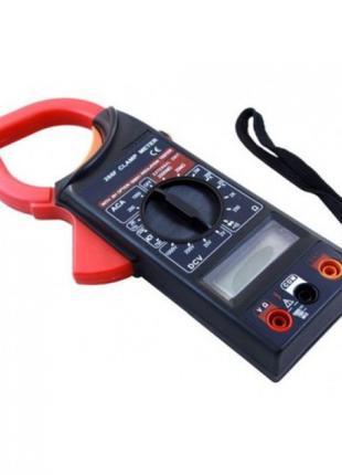 Мультиметр цифровой мультитестер DT 266F Токовые клещи