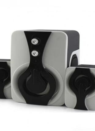 Колонки для ПК компьютера USB SPEAKER FT-2060 Чёрные с белым