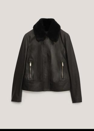 Massimo dutti утепленная кожаная куртка